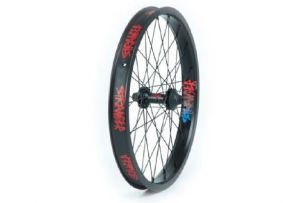 "Stranger Crux V2 Front Wheel - Black Hub With Black XL Rim 10mm (3/8"")"